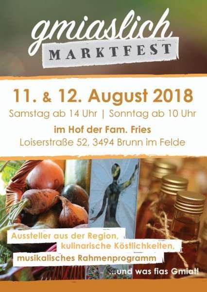 Gmiaslich Marktfest 2018 - Bild 1
