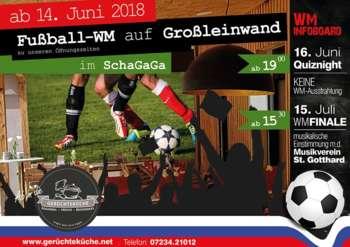 Fußball-WM auf Großleinwand in der Gerüchteküche