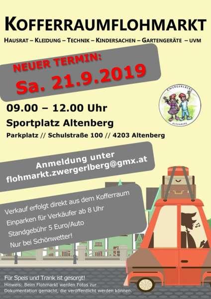 VERSCHOBEN Kofferraumflohmarkt Altenberg  - Bild 1553329737