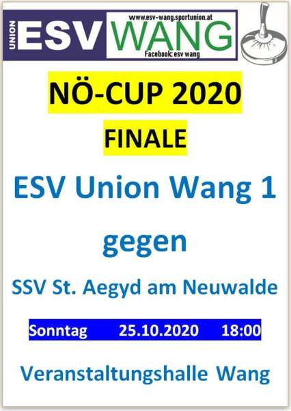 NÖ Cup Finale ESV Union Wang gegen SSV St. Aegyd am Neuwalde - Bild 1