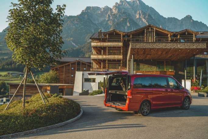 Mercedes V-Klasse: Mit Business Class ins Puradies Leogang