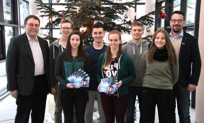 Weihnachtskarten Mit Gutem Zweck.Bbs Schüler Gestalteten Weihnachtskarte Für Den Guten Zweck