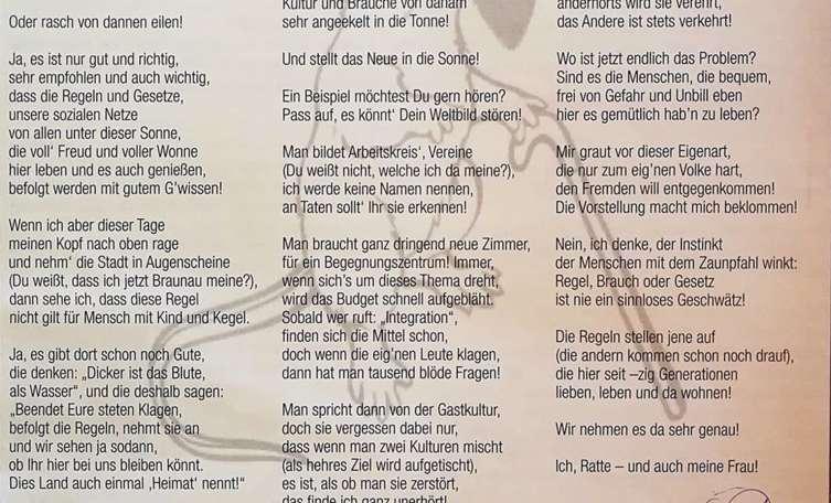 Nach Ratten Gedicht Braunaus Fpö Vizebürgermeister Tritt