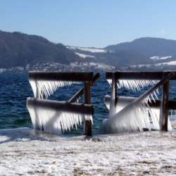 Eiszauber am Attersee