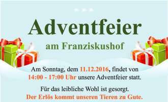 Adventfeier am Franziskushof