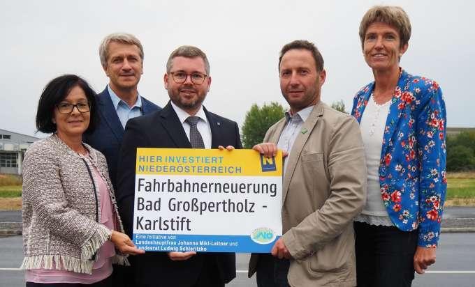 Baustelle Auf Der B 41 Zwischen Karlstift Und Bad Grosspertholz