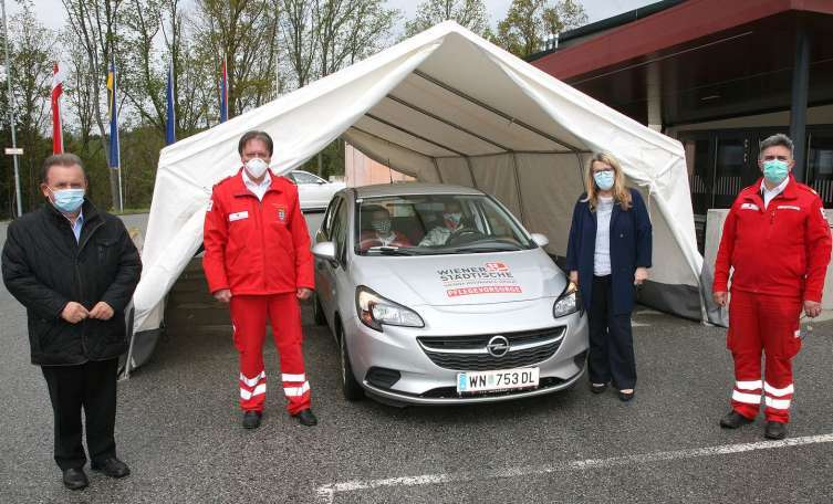 Covid-19 Drive-in-Teststation in Zwettl ist da
