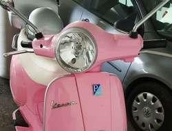 Vespa LX 50 Piaggio Limited Edition Pink mit weißem Ledersitz