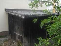 Holzhütte zum Wiederaufbau oder Brennholz