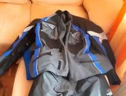 Goretex, Gr. 42, 2-teilig, schwarz/grau/blau