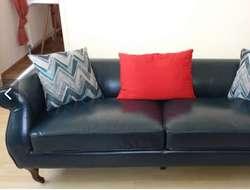 Sofà retro blau