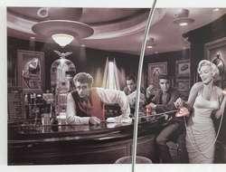 Wandbild retro vintage 90 x 60 aus Holzbrett