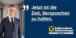 Raiffeisenbank Gmunden Salzkammergut Versprechen halten