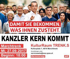 SPÖ - Kanzler Kern kommt