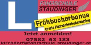 Staudinger Frühbucherbonus