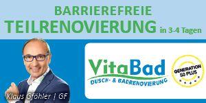 VitaBad GmbH Barrierefreie Teilrenovierung