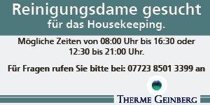 W18 Online Upseller Therme Geinberg Stellenausschr.