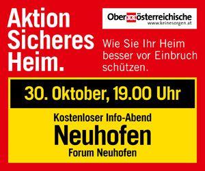 OÖ Versicherung Content Banner 16.10. Linz-Land